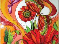Рисунок Стрекоза и бабочка. 1.