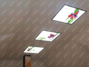 Изготовление витражных потолков с подсветкой