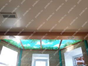 Доставка и установка витражных потолков с подсветкой