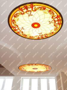 Изготовление витражей на потолок