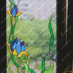 Большие витражные окна