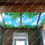 Php_143_1 Потолок витражный фотопечать