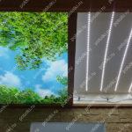 Php_143_4 Потолок витражный фотопечать