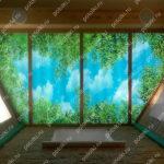 Php_143_2 Потолок витражный фотопечать