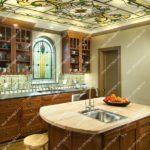 Витражные потолки на кухне