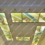Витражные потолки в интерьере