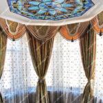 Круглый потолок Тиффани