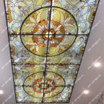Витражный потолок Тиффани фото