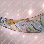 Витражный потолок Тиффани с подсветкой