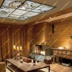 Витражный потолок Тиффани в гостиной